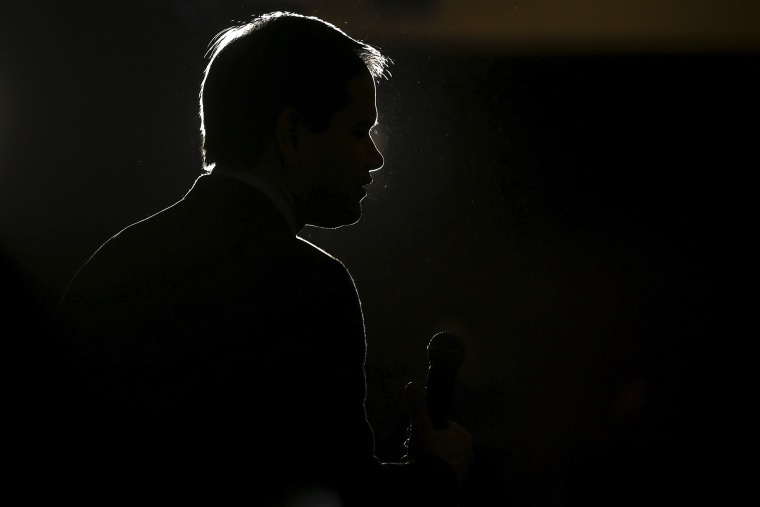 U.S. Republican presidential candidate Marco Rubio speaks during a campaign event in Myrtle Beach, S.C., Feb. 11, 2016. (Photo by Carlo Allegri/Reuters)