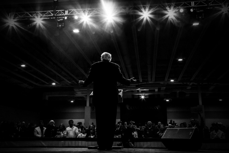 Donald Trump holds a rally in North Charleston, S.C., Feb. 19, 2016. (Photo by Mark Peterson/Redux for MSNBC)