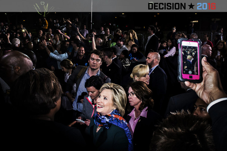 Democratic candidate Hillary Clinton campaigns in Las Vegas, Nev. on Feb. 19, 2016. (Photo by Dina Litovsky/Redux for MSNBC)