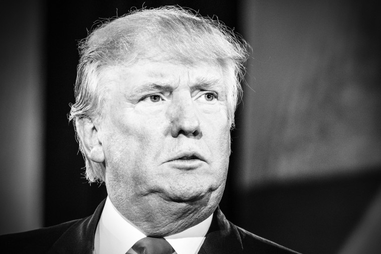 Republican presidential frontrunner Donald Trump during the MSNBC Town Hall moderated by Morning Joe hosts Joe Scarborough and Mika Brzezinski in Charleston, South Carolina on February 17, 2016.