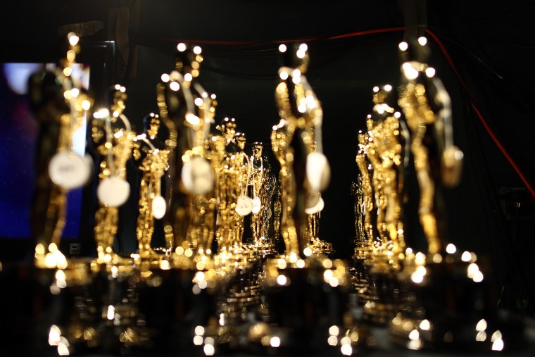 General view of atmosphere backstage during the Oscars held at the Dolby Theatre on Feb. 24, 2013 in Hollywood, Calif. (Photo by Christopher Polk/Getty)