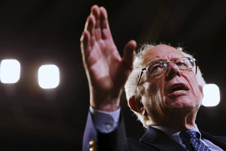 Democratic presidential candidate Bernie Sanders delivers remarks to supporters at a rally in Greenville, S.C., Feb. 21, 2016. (Photo by Jonathan Ernst/Reuters)