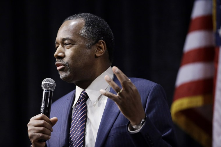 Republican presidential candidate Ben Carson speaks during a town hall meeting, Feb. 21, 2016, in Reno, Nev. (Photo by Marcio Jose Sanchez/AP)