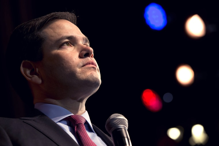 Republican presidential candidate Sen. Marco Rubio, R-Fla., speaks at a campaign event to the Sun City community in Bluffton, S.C., on Feb. 11, 2016. (Photo by Jacquelyn Martin/AP)