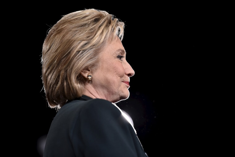 Democratic presidential candidate Hillary Clinton looks on at a campaign rally at the Clark County Government Center in Las Vegas, Nev., Feb. 19, 2016. (Photo by David Becker/Reuters)