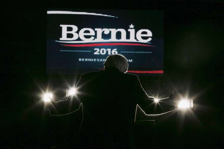U.S. Democratic presidential candidate and U.S. Senator Bernie Sanders speaks at a campaign rally at UMass Amherst in Amherst