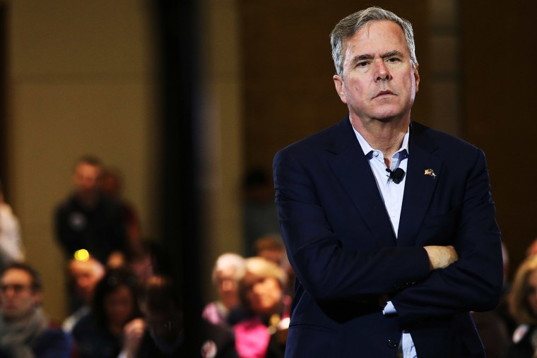 Republican presidential candidate Jeb Bush speaks to an audience of voters on Feb. 18, 2016 in Columbia, S.C. (Photo by Spencer Platt/Getty)