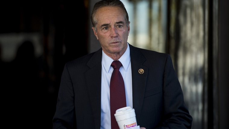 Rep. Chris Collins, R-N.Y., leaves the House Republican Conference meeting at the Capitol Hill Club on Nov. 3, 2015. (Photo By Bill Clark/CQ Roll Call/AP)