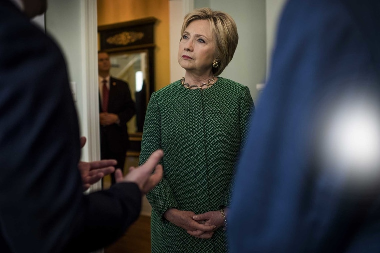 Former Secretary of State Hillary Clinton visits a South Carolina Strong non profit facility for former felons in North Charleston, S.C., Feb. 24, 2016. (Photo by Melina Mara/The Washington Post/Getty)
