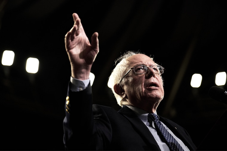 Democratic presidential candidate Senator Bernie Sanders, speaks during a campaign rally at Bon Secours Wellness Arena in Greenville, S.C., on Feb. 21, 2016. (Photo by T.J. Kirkpatrick/Bloomberg/Getty)