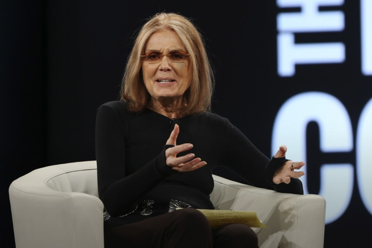 Feminist writer and activist Gloria Steinem speaks on stage at the 2016 MAKERS Conference at the Terrenea Resort on Feb. 1, 2016 in Rancho Palos Verdes, Calif. (Photo by Jonathan Leibson/Getty)