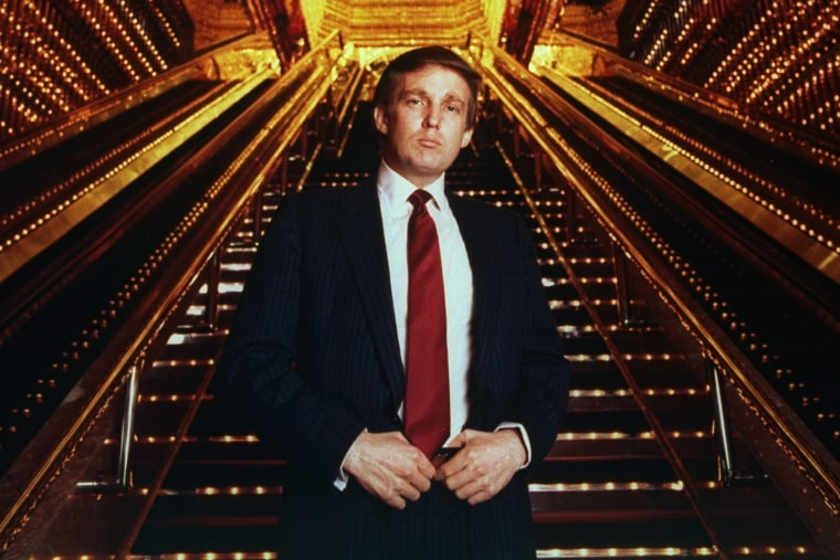 Real estate tycoon Donald Trump poses in Trump Tower atrium, 1989. (Photo by Ted Thai/The LIFE Picture Collection/Getty)