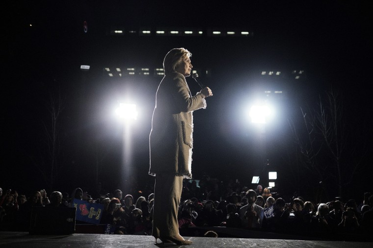 Hillary Clinton speaks during a town hall event at the Columbia Museum of Art Boyd Plaza in Columbia, S.C., Feb. 26, 2016. (Photo by T.J. Kirkpatrick/Bloomberg/Getty)