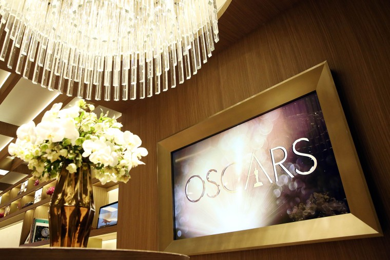 The Greenroom for the 88th Academy Awards designed by Rolex is seen in Los Angeles, Feb. 24, 2016. (Photo by Matt Sayles/Invision/AP)