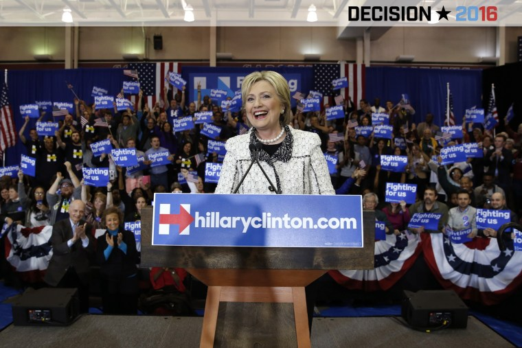 Democratic U.S. presidential candidate Hillary Clinton speaks about the results of the South Carolina primary to supporters at a primary night party in Columbia, S.C. on Feb. 27, 2016. (Photo by Jonathan Ernst/Reuters)