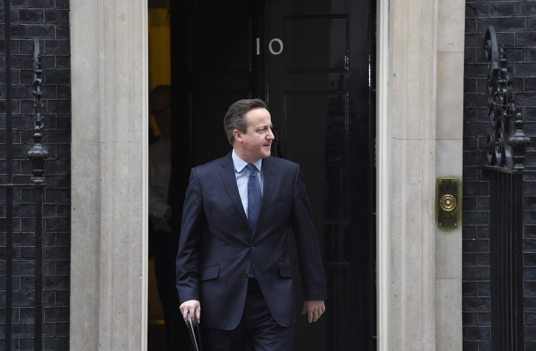 Britain's Prime Minister David Cameron announced he would hold a referendum on Britain's membership of the European Union on June 23, on Downing Street in London, Britain, Feb. 20, 2016. (Photo by Toby Melville/Reuters)