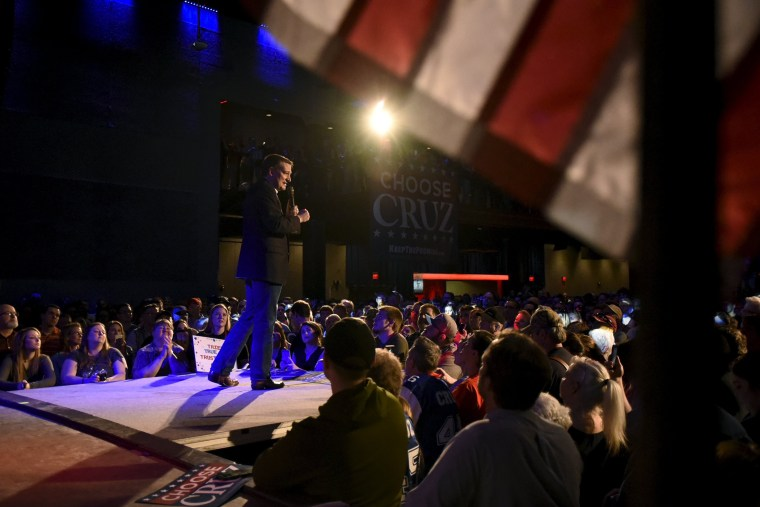 Republican U.S. presidential candidate Ted Cruz speaks at a campaign rally in Oklahoma City, Okla., on Feb. 28, 2016. (Photo by Nick Oxford/Reuters)