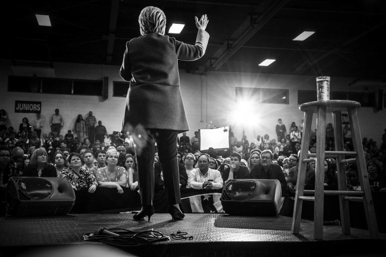 Democratic presidential candidate Hillary Clinton speaks during a rally in Norflk, Va., on Feb. 29, 2106. (Photo by Mark Peterson/Redux for MSNBC)