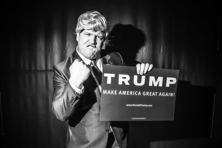 Donald Trump supporters join him for a rally in Radford, Va., Feb. 29, 2016. (Photo by Mark Peterson/Redux for MSNBC)