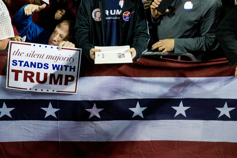 The audience await handshakes and signatures at a rally for Republican presidential candidate Donald Trump at Valdosta State University in Valdosta, Ga., Feb. 29, 2016. (Photo by Andrew Harnik/AP)