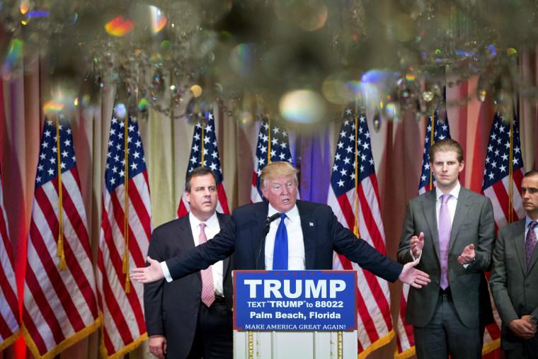 Donald Trump, Chris Christie, Eric Trump