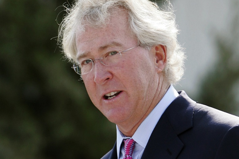 In a Sept. 8, 2009, file photo, Chesapeake Energy Corp. CEO Aubrey McClendon speaks during the opening of a compressed natural gas filling station in Oklahoma City. (Photo by AP)