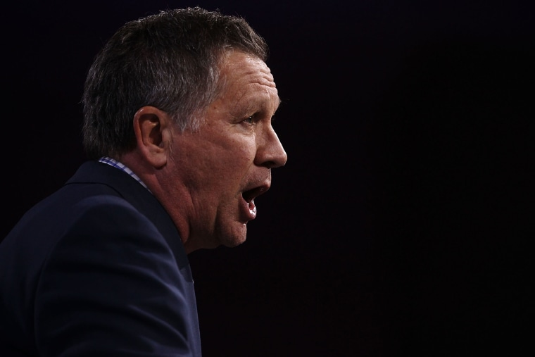 Republican presidential candidate Gov. John Kasich of Ohio speaks during CPAC 2016 March 4, 2016 in National Harbor, Md. (Photo by Alex Wong/Getty)