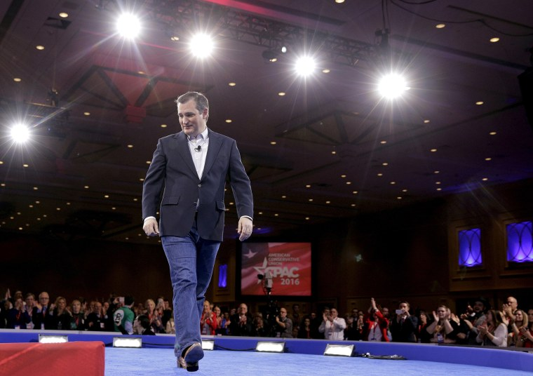 Republican U.S. presidential candidate Texas Senator Ted Cruz walks from the stage at the 2016 Conservative Political Action Conference (CPAC) at National Harbor, Md., March 4, 2016. (Photo by Joshua Roberts/Reuters)