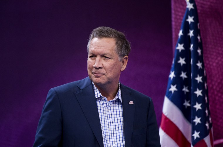 Presidential candidate Ohio Gov. John Kasich speaks at the American Conservative Union's CPAC conference at National Harbor in Oxon Hill, Md., March 4, 2016. (Photo By Bill Clark/CQ Roll Call/Getty)
