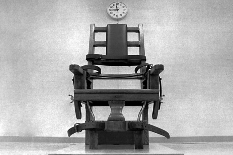 The Virginia electric chair is shown in this 1991 file photo taken in Greensville, Va. (Photo by Bruce Parker/Richmond Times-Dispatch/AP)