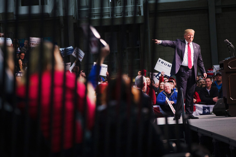 Republican presidential candidate Donald Trump speaks to guests during a rally at Macomb Community College on March 4, 2016 in Warren, Mich. (Photo by Scott Olson/Getty)