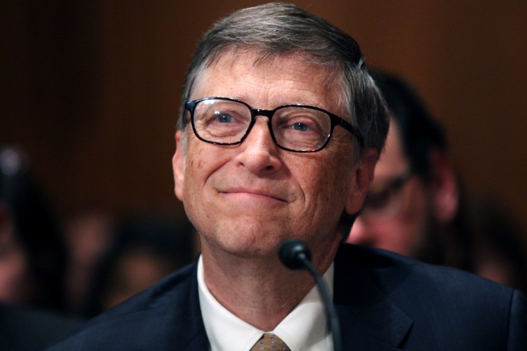 Bill Gates, the co-Chair of the Bill and Melinda Gates Foundation, testifies on Capitol Hill in Washington, March 26, 2015. (Photo by Lauren Victoria Burke/AP)