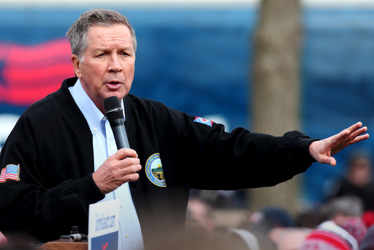Ohio Governor and Republican presidential candidate John Kasich speaks at a rally in Columbus, Ohio, March 6, 2016. (Photo by Aaron Josefczyk/Reuters)