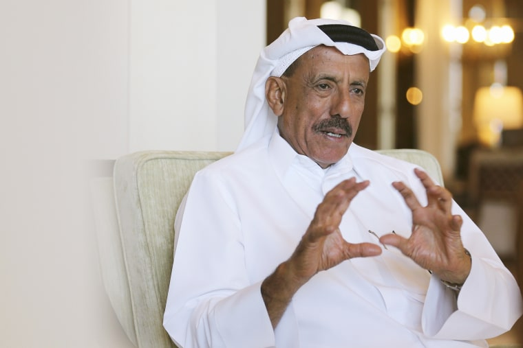 Khalaf Ahmed Al Habtoor, Chairman of the Al Habtoor Group, gestures during an interview with Reuters in Dubai on Jan. 9, 2016. (Photo by Ashraf Mohammad Mohammad Alam/Reuters)
