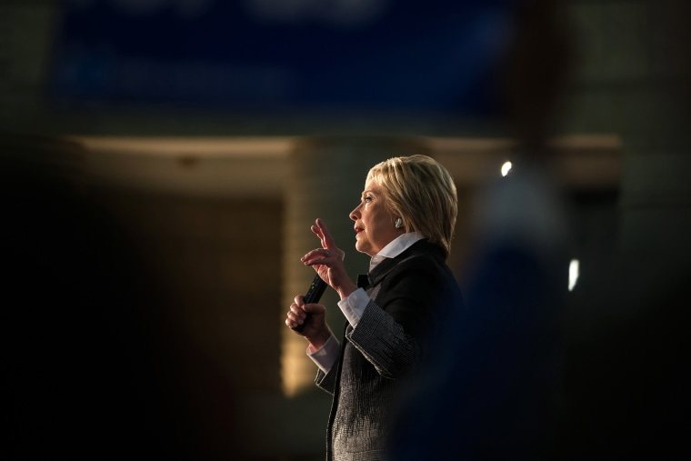 Democratic presidential candidate Hillary Clinton speaks during a rally in Detroit, Mich., on March 7, 2016. (Photo by Geoff Robins/AFP/Getty)