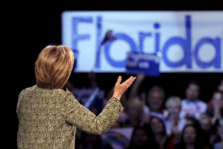 Democratic presidential candidate Hillary Clinton speaks to supporters during a campaign rally in Tampa, Fla., March 10, 2016. (Photo by Carlos Barria/Reuters)