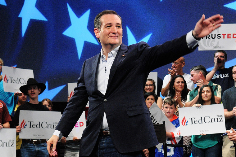 Republican presidential candidate Sen. Ted Cruz (R-TX) waves during a campaign rally at Faith Assembly of God Church on March 11, 2016 in Orlando, Fla. (Photo by Gerardo Mora/Getty)