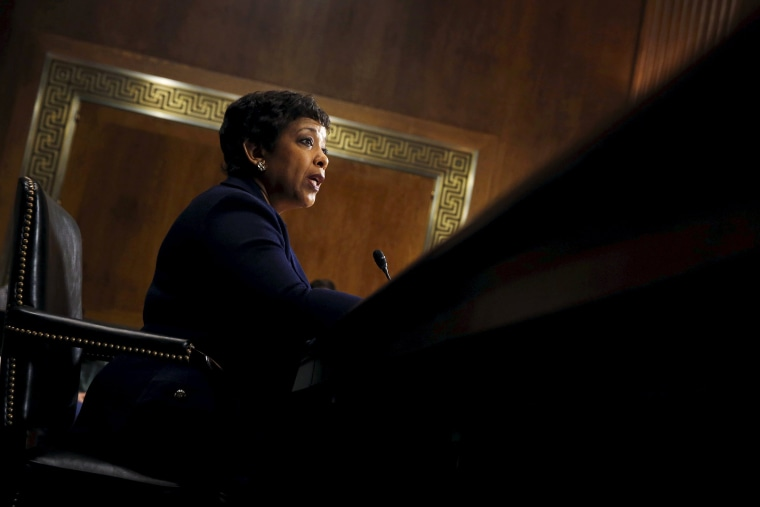 U.S. Attorney General Loretta Lynch testifies during a hearing on Capitol Hill in Washington, D.C., March 9, 2016. (Photo by Kevin Lamarque/Reuters)