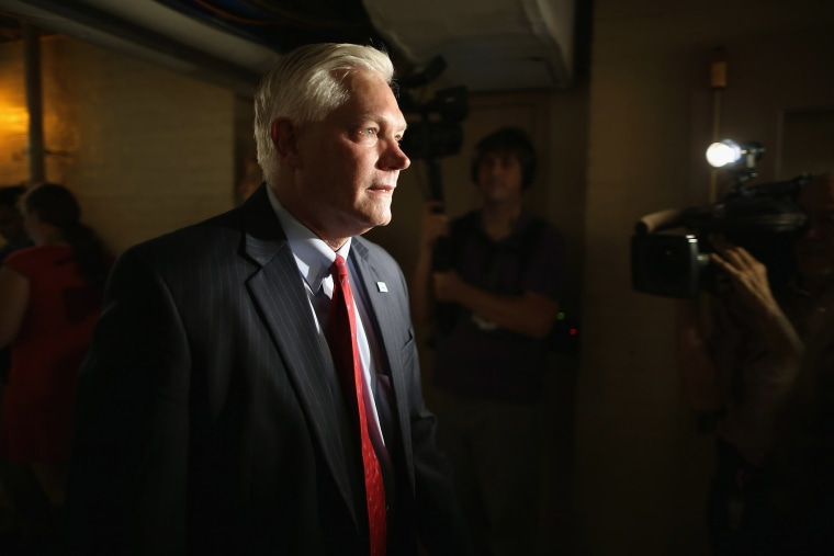 Rep. Pete Sessions (R-TX) heads for House Republican caucus meeting in the basement of the U.S. Capitol Oct. 9, 2015 in Washington, D.C. (Photo by Chip Somodevilla/Getty)