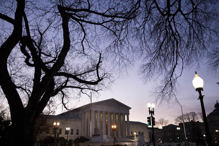 A general view of the U.S. Supreme Court on Feb. 19, 2016 in Washington, D.C. (Photo by Drew Angerer/Getty)
