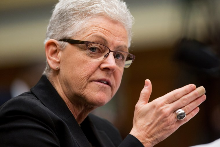 EPA Administrator Gina McCarthy testifies before a House Oversight and Government Reform Committee hearing in Washington, March 17, 2016. (Photo by Andrew Harnik/AP)