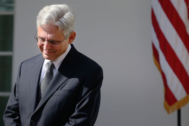 Judge Merrick B. Garland listens to President Barack Obama nominate him to the US Supreme Court, in the Rose Garden at the White House, March 16, 2016 in Washington, DC. (Photo by Mark Wilson/Getty)