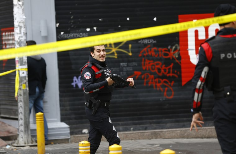 Police secure the area following a suicide bombing in a major shopping and tourist district in central Istanbul, March 19, 2016. (Photo by Murad Sezer/Reuters)