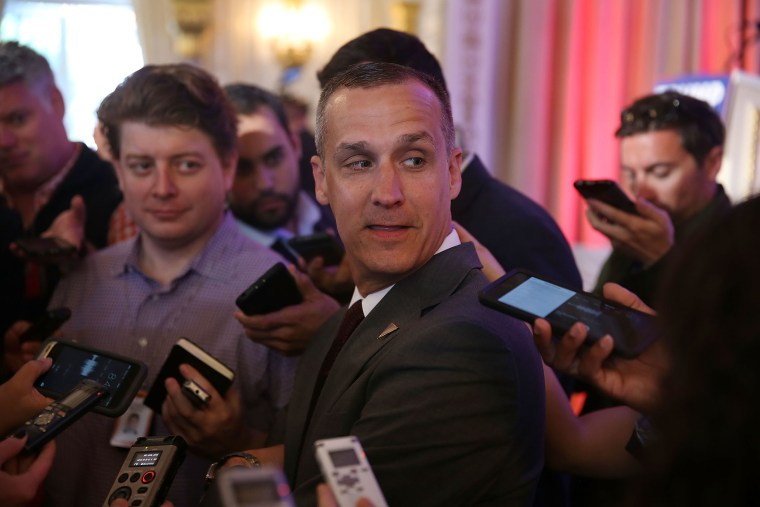 Corey Lewandowski, campaign manager for Republican presidential candidate Donald Trump, speaks with the media at the Mar-A-Lago Club on March 11, 2016 in Palm Beach, Fl. (Photo by Joe Raedle/Getty)