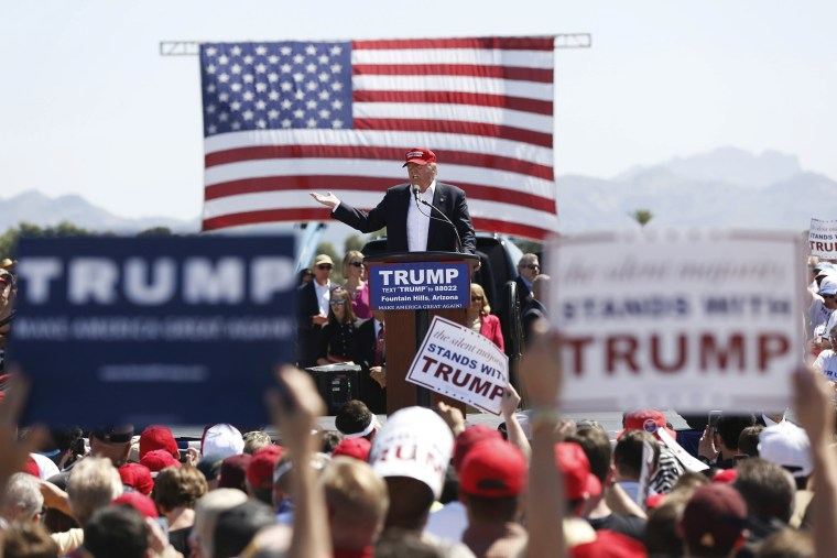 Republican U.S. presidential candidate Donald Trump speaks at a campaign rally in Fountain Hills, Ariz., March 19, 2016. (Photo by Mario Anzuoni/Reuters)