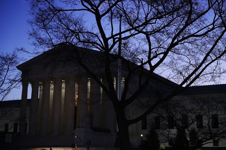 The U.S Supreme Court building is seen in the morning hours of March 16, 2016 in Washington, DC. (Photo by Alex Wong/Getty)