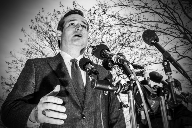 Senator Ted Cruz speaks to the media in Washington, DC, on March 22, 2016.