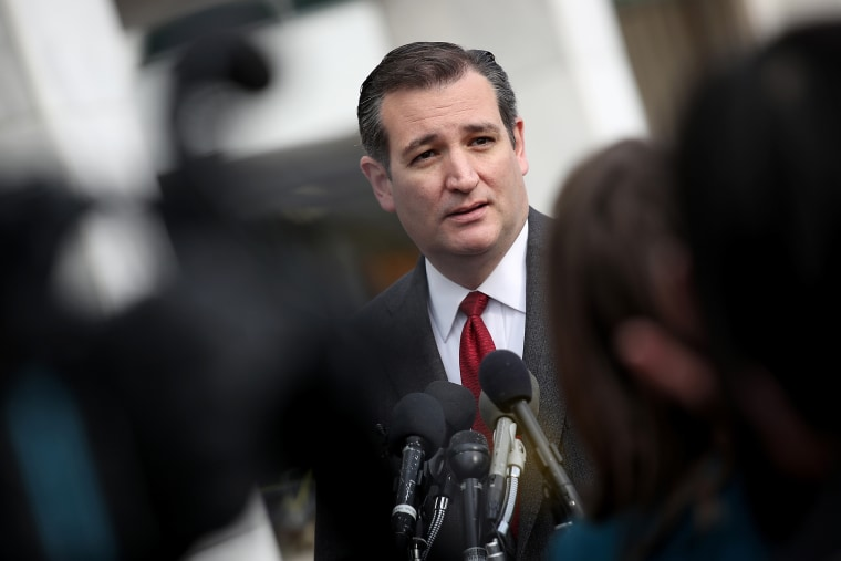 Republican presidential candidate Sen. Ted Cruz (R-TX) addresses the bombings in Brussels during remarks March 22, 2016 in Washington, DC. (Photo by Win McNamee/Getty)