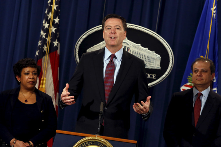 Federal Bureau of Investigation Director James Comey speaks during a news conference at the Justice Department in Washington, March 24, 2016. (Photo by Jonathan Ernst/Reuters)