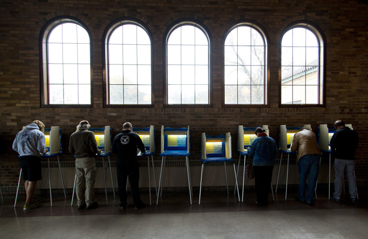 Citizens go to the cast their ballots at the South Shore Park building on election day, Nov. 4, 2014 in Milwaukee, Wis. (Photo by Darren Hauck/Getty)